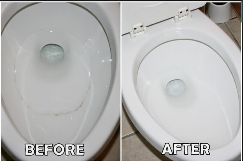 what causes black ring in toilet bowl